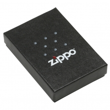 Zippo Lighter Emblem Brushed Chrome