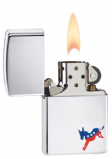Zippo Democrat Polished Chrome