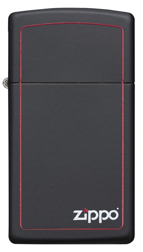 Slim® Black Matte with Red Border