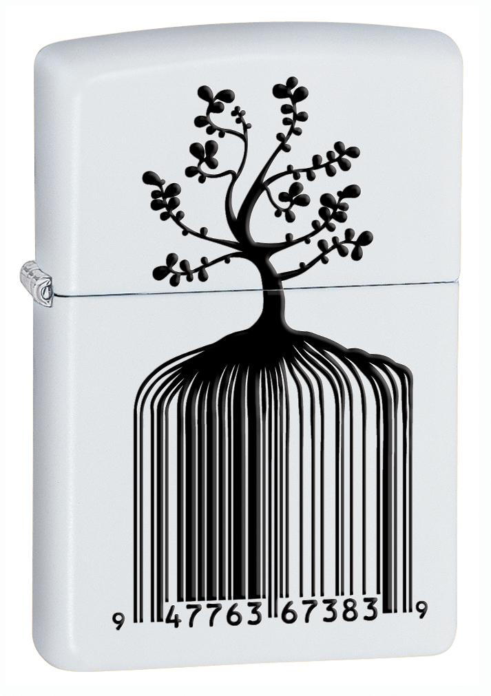 Identity Tree Barcode White Matte