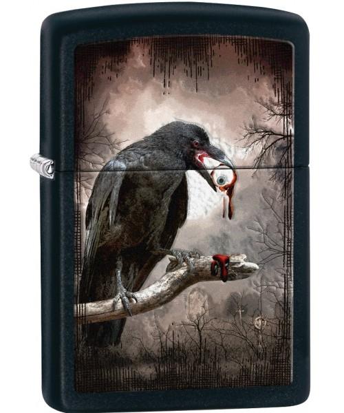 Goth Raven Eyeball Black Matte