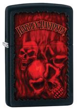 Harley-Davidson Black Matte Red Skulls