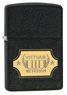 Zippo Vietnam War Black Crackle