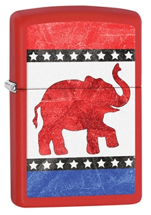 Zippo Republican Party Elephant Red Matte