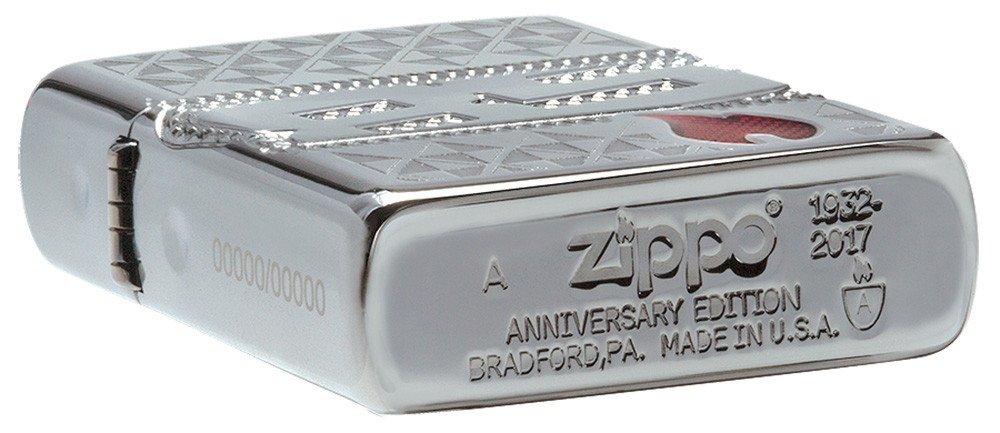 85th Anniversary Lighter - Armor High Polish Chrome