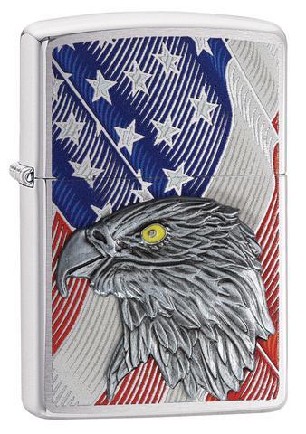 USA Flag with Eagle Emblem