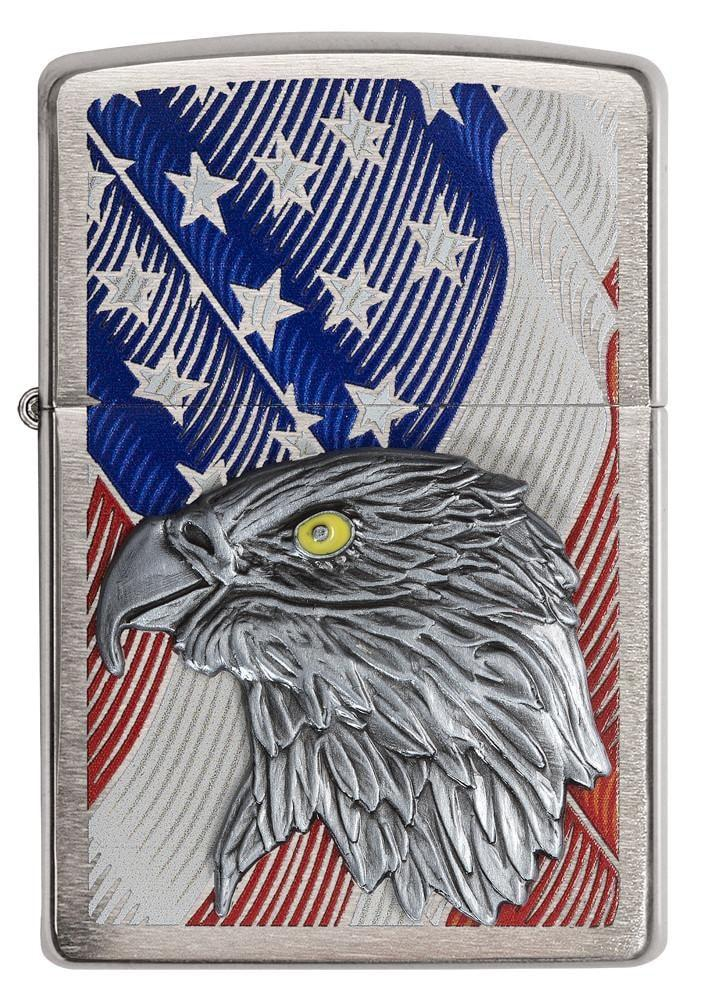 USA Flag with Eagle Emblem