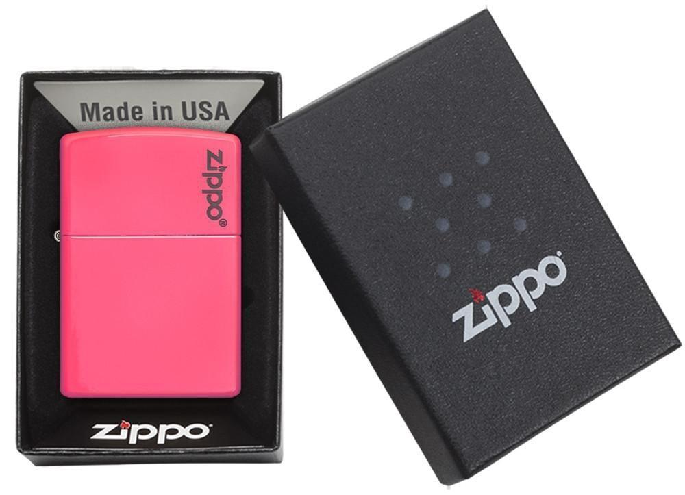 Neon Pink Zippo Logo