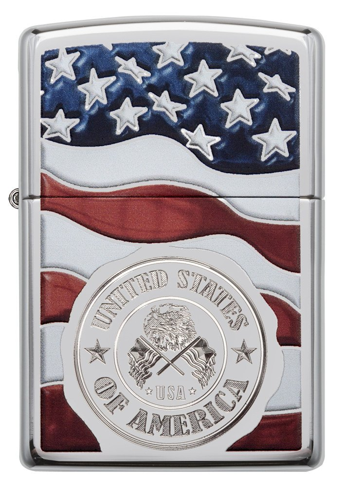 American Stamp on Flag