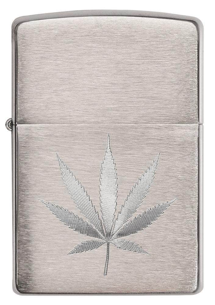 Chrome Marijuana Leaf Design