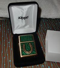 Zippo Clovers And Horseshoe Emblem
