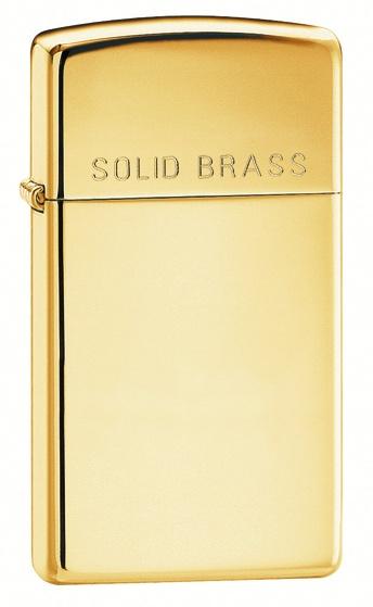 Polished Brass Engraved Slim