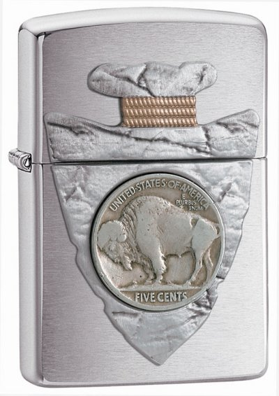 Piercing Buffalo Nickel Emblem