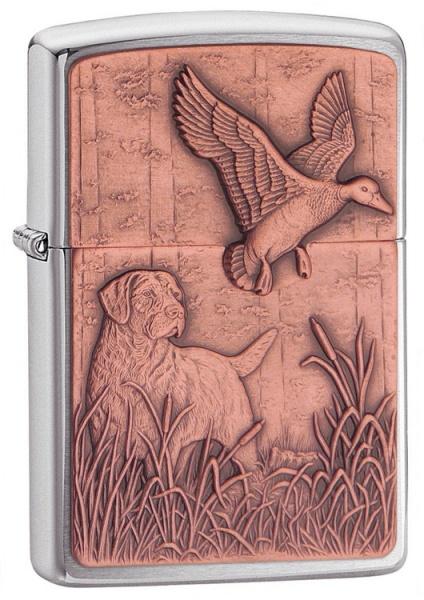 Bird Dog Copper Emblem