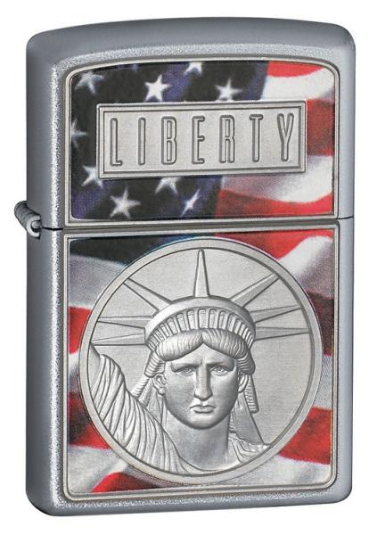 The Face Of Liberty Emblem Satin Chrome
