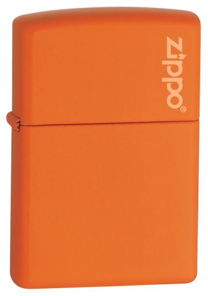 Classic Orange Matte Zippo Logo