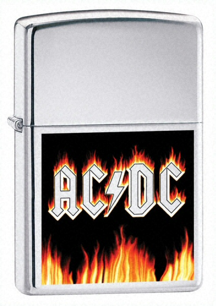 AC/DC Rock Music Flames