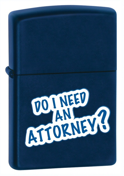 Do I Need An Attorney Navy Matte