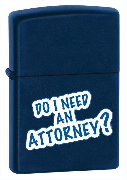Do I Need An Attorney Navy Matte