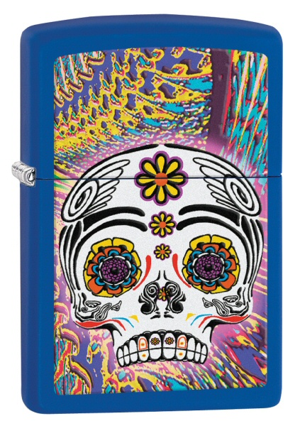 Day of the Dead Royal Blue Matte