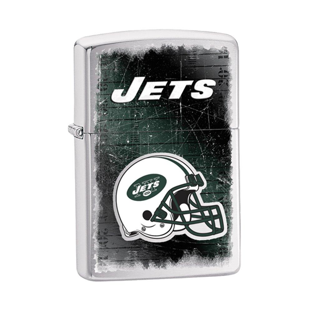 Zippo New York Jets Brushed Chrome Lighter