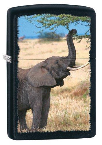 Zippo Elephant Lighter, Black Matte