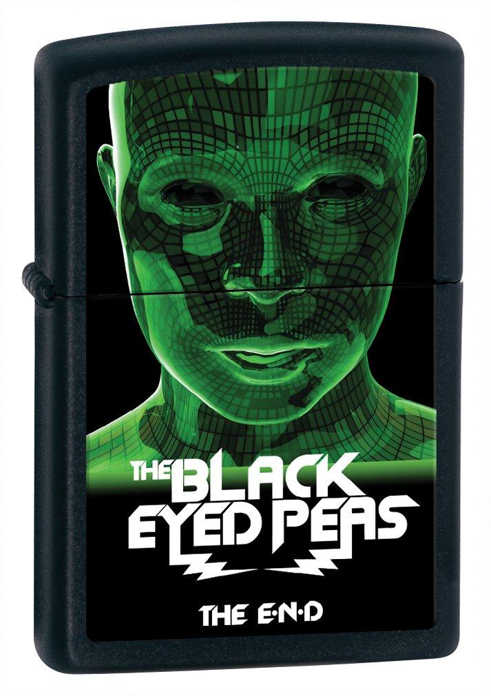 Zippo Lighter Black eyed Peas, Black Matte