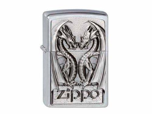Zippo 2002728 Lighter #200 Twins Dragon Heart