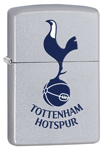 ZIPPO Official Tottenham Hotspur Crest Windproof Lighter – Satin Chrome