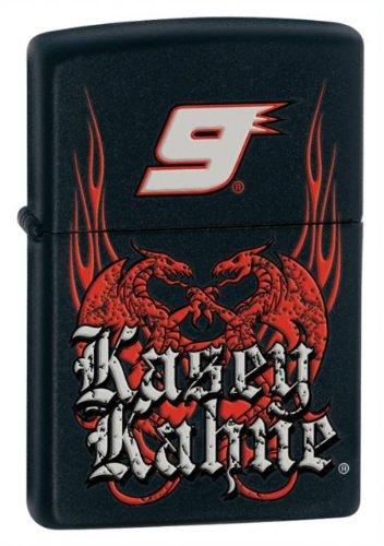 Zippo Kasey Kahne with flames Pocket Lighter (Black, 5 1/2 x 3 1/2 cm)