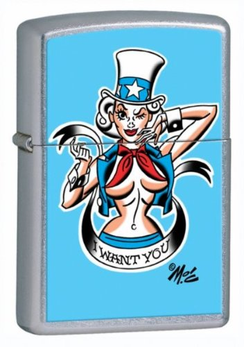 Zippo Mitch O'Connell Want You Pocket Lighter (Multi, 5 1/2 x 3 1/2 cm)