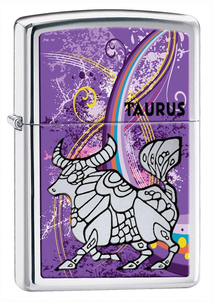 Zippo Zodiac Taurus High Polish Chrome Lighter