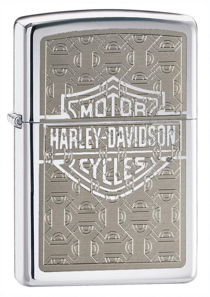 Zippo Lighter Harley Davidson Logo, High Polish Chrome