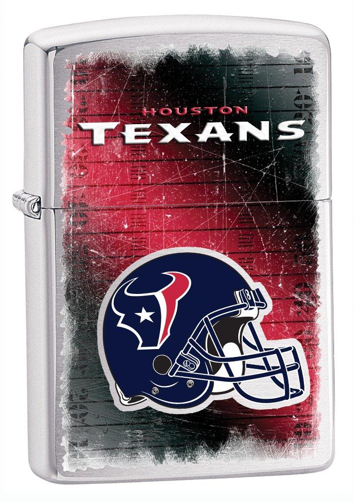 Zippo NFL Brushed Chrome Houston Texans Lighter