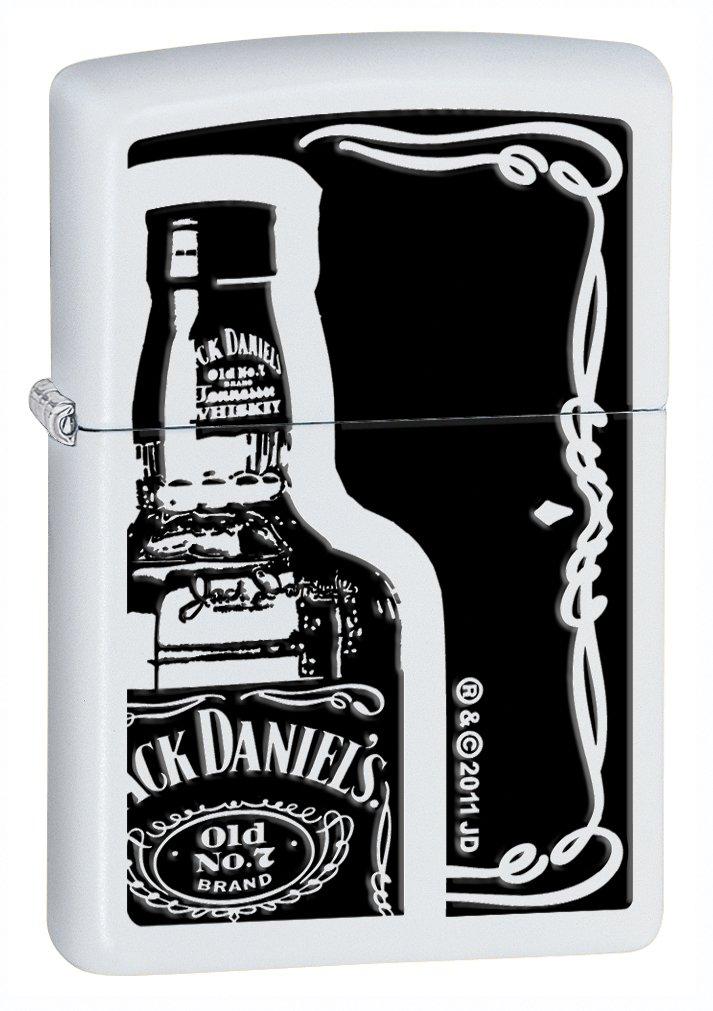 Zippo White Matte Jack Daniel's Lighter