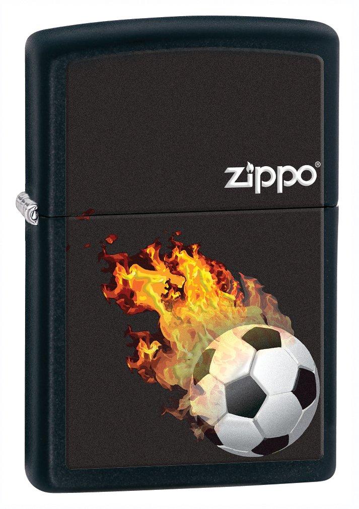 Zippo Black Matte Soccer Lighter