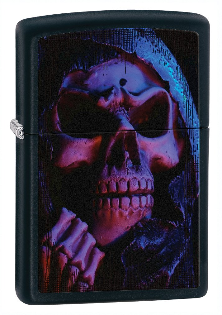 Zippo Black Matte Grim Reaper Lighter