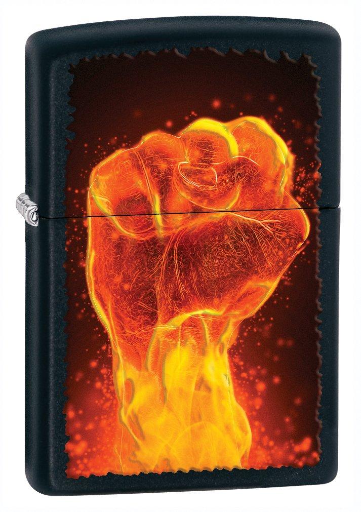Zippo Black Matte Fire Fist Lighter