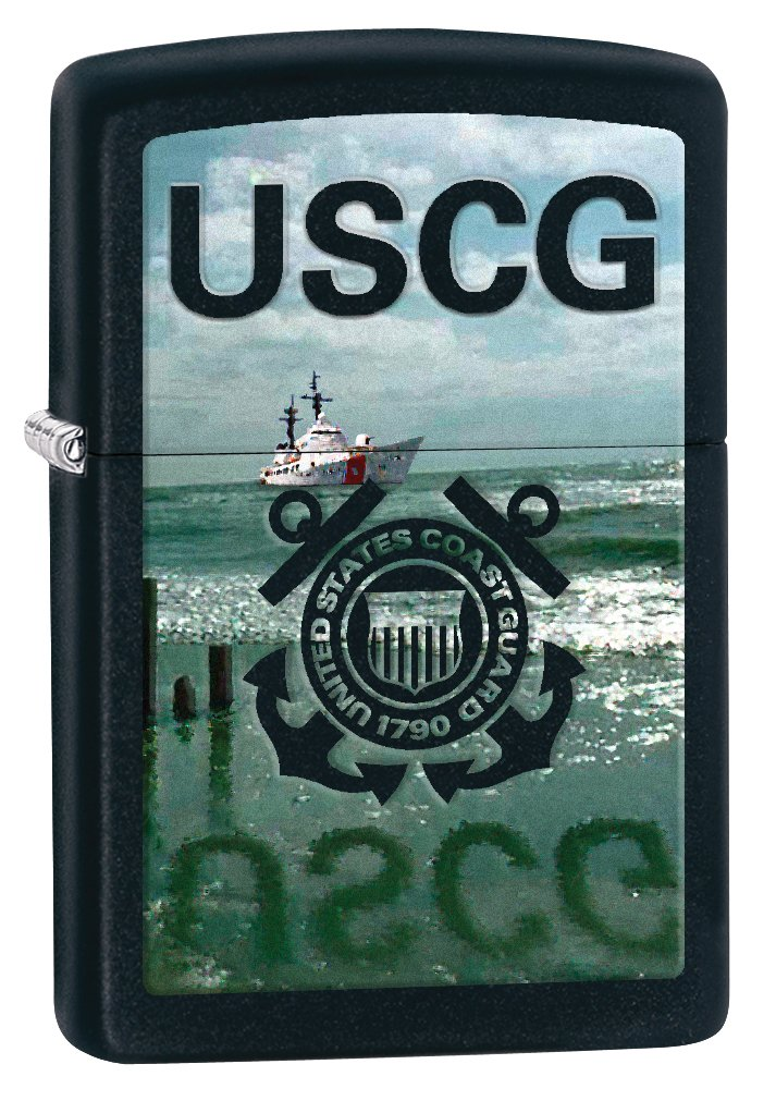 Zippo Pocket Lighter Coast Guard Windproof Lighter