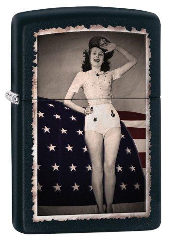 Woman Saluting Flag
