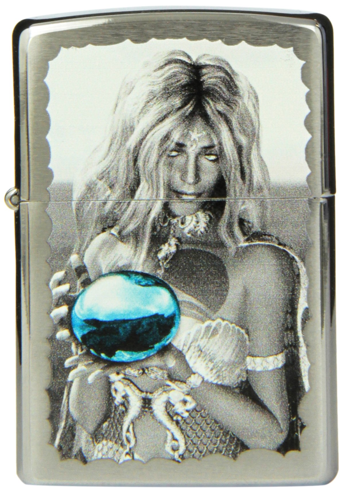 Zippo Woman Lighter, Brushed Chrome