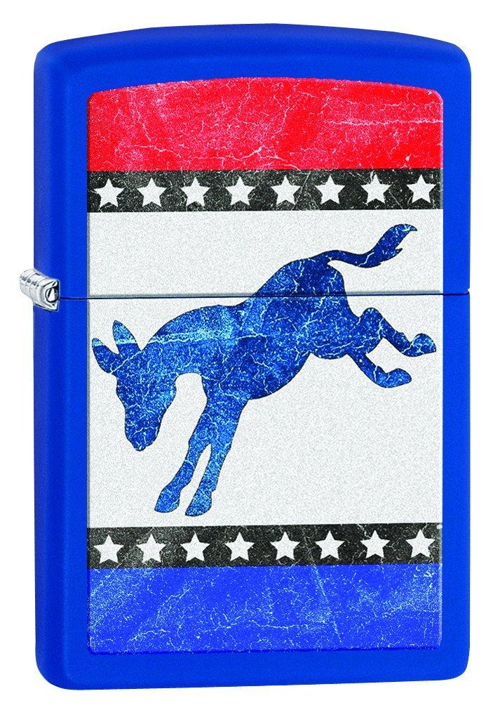 Zippo Democrat Party Elephant Royal Blue Matte