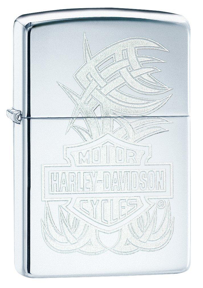 Zippo Harley-Davidson bar & Shield High Polish Chrome Pocket Lighter