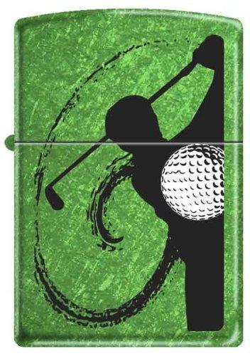 Golf Swing Meadow Green Zippo Lighter