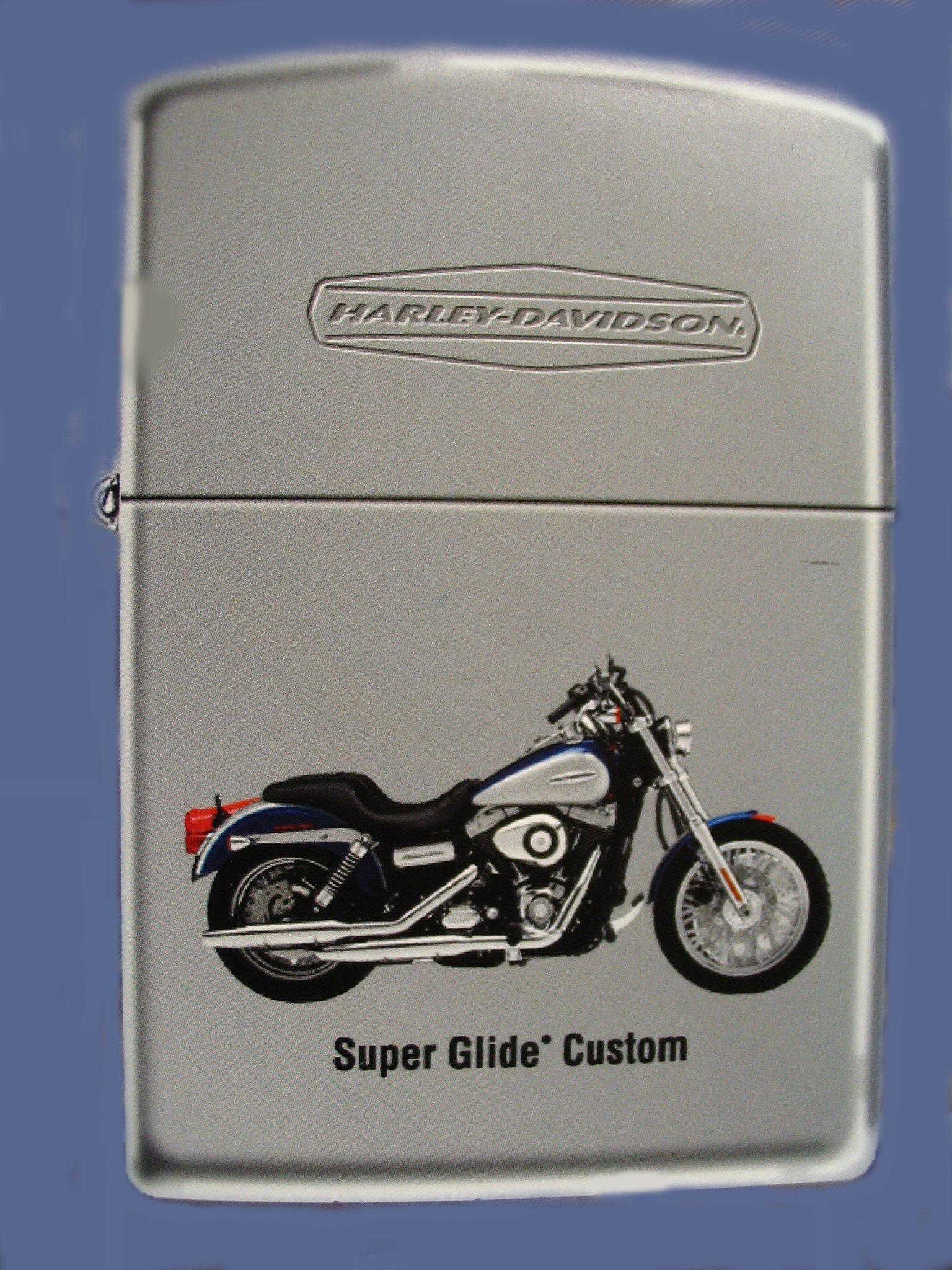 Harley Davidson Motor Cycles Super Glide Custom Zippo Lighter