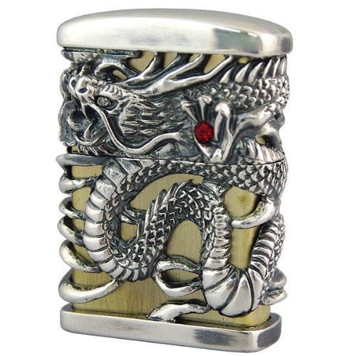 Zippo Oil lighter Celestial Dragon Brass Silver Plating Full Metal Jacket Japan Limited