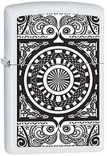 Oculus Design White Matte Zippo Lighter