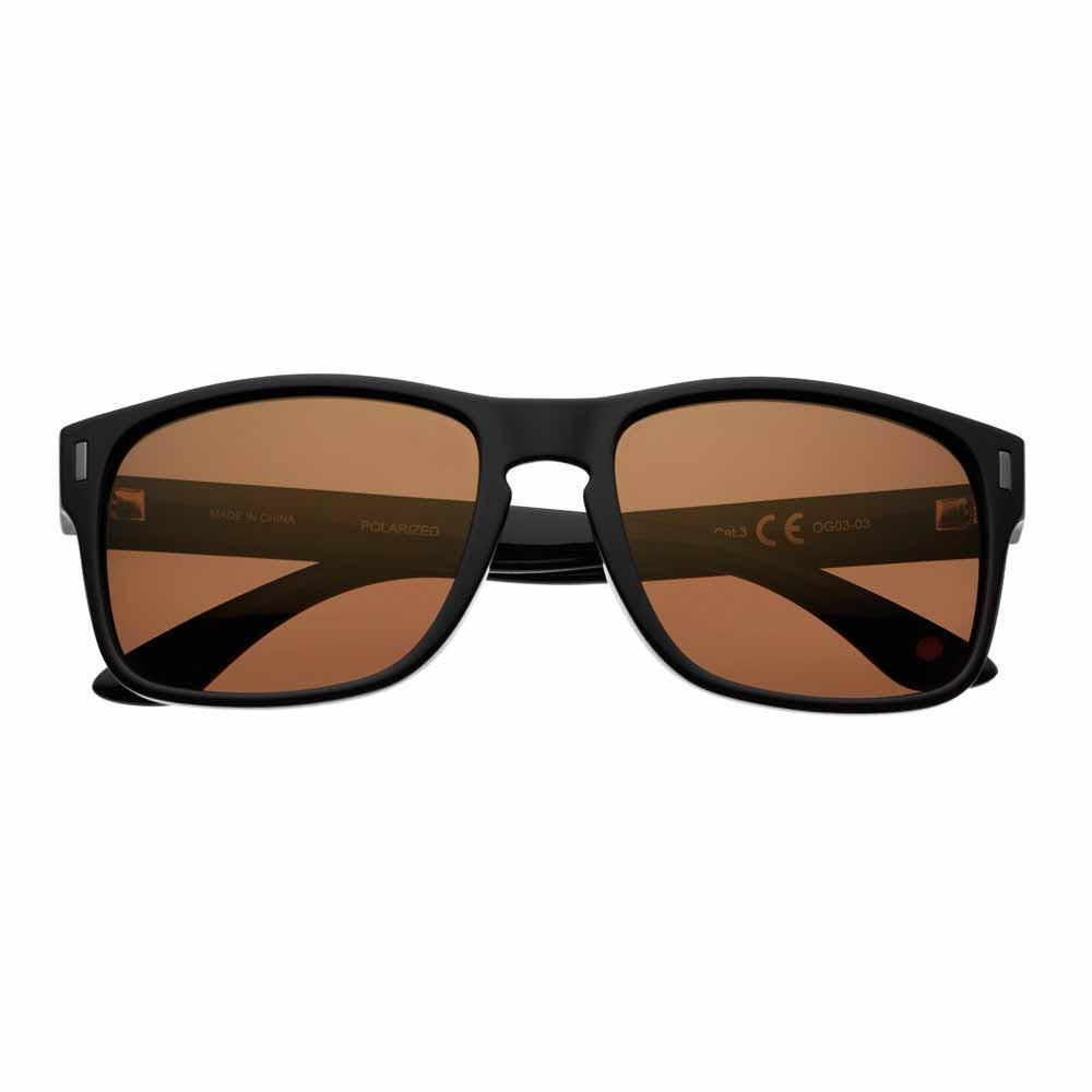 Brown Polarized Square Sunglasses