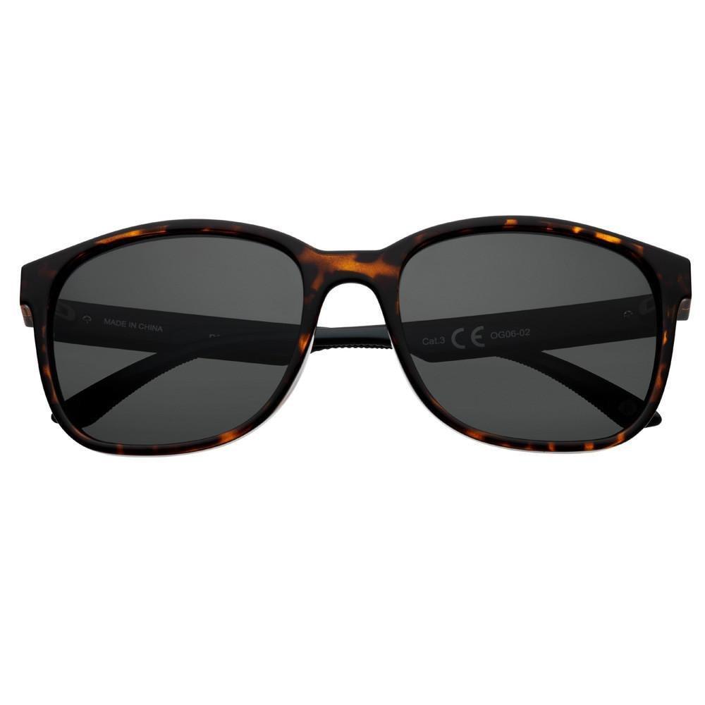 Dark Green Polarized Teardrop Sunglasses