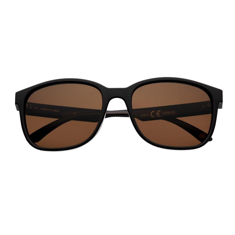 Brown Polarized Teardrop Sunglasses